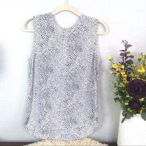 Equipment silk animal print sleeveless blouse tank